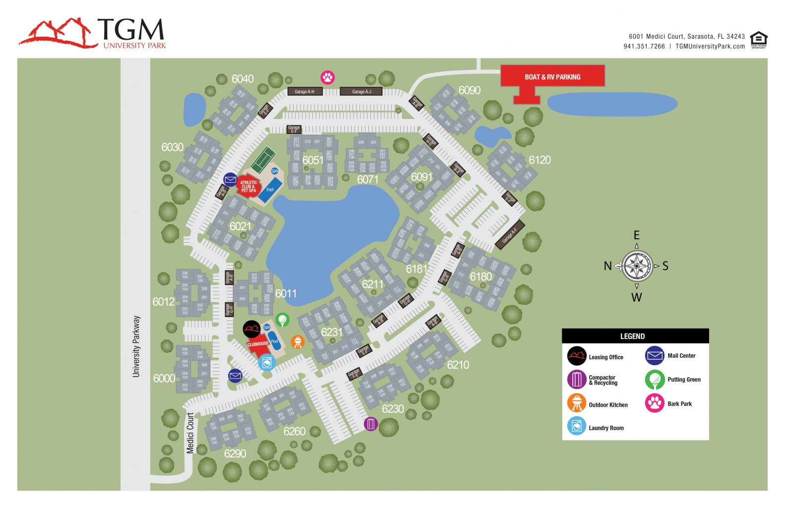 TGM University Park Apartments Map