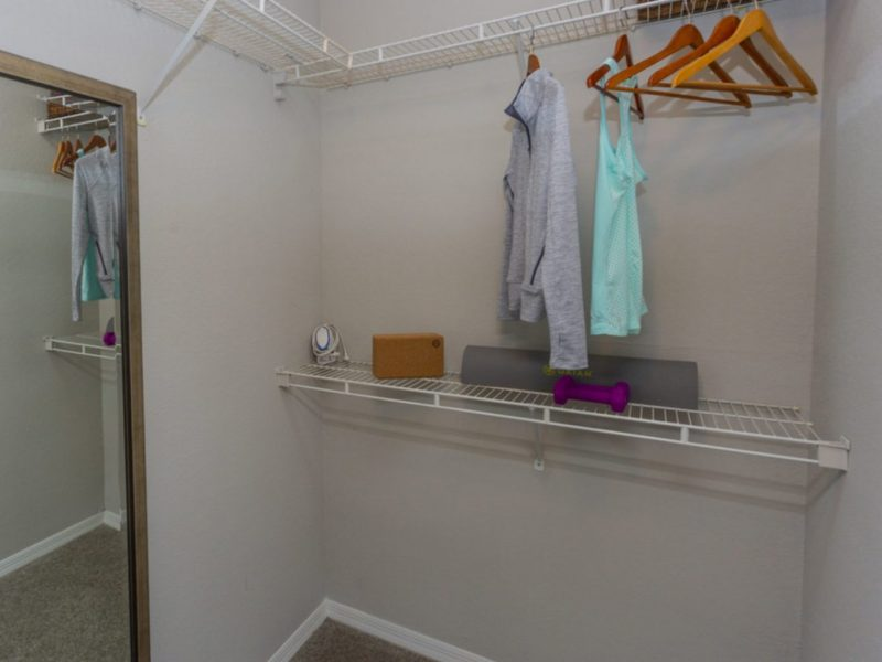 TGM University Park Apartments Walk-in closet